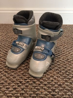 Gaia 2 dalbello silver girls youth ski boots size 13 or 1 241mm for Sale in Chevy Chase Village, MD