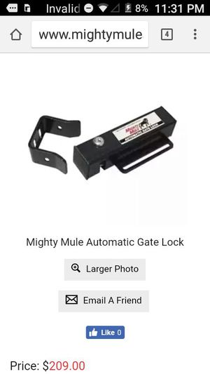 Mighty mule Gate Lock for sale  Bartlesville, OK