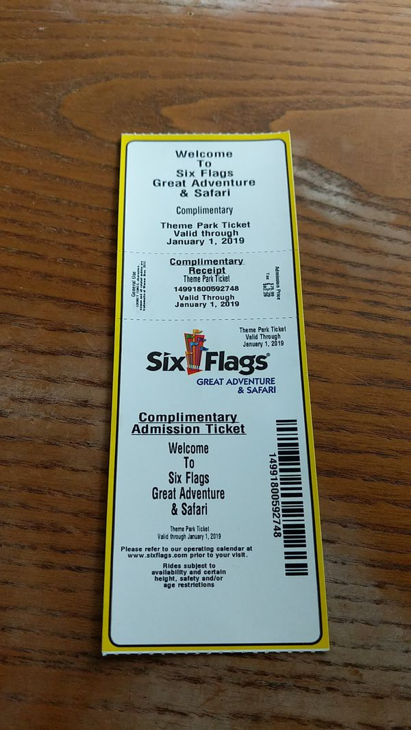 Six flags ticket for Sale in Jackson, NJ - OfferUp