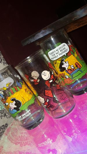 Camp Snoopy Charlie Brown 1950 McDonald's glass collection for Sale in Scottsdale, AZ