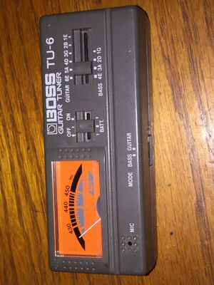 Boss TU-6 guitar tuner and bass tuner for Sale in San Diego, CA