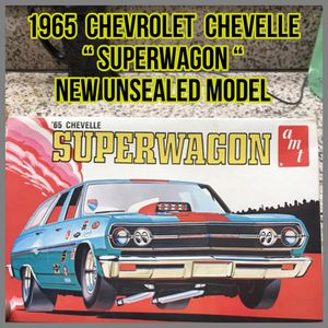Photo AMT ( NEW) SUPERWAGON 1965 Chevy Chevelle HARD TO FIND 1:25 Scale Model Kit