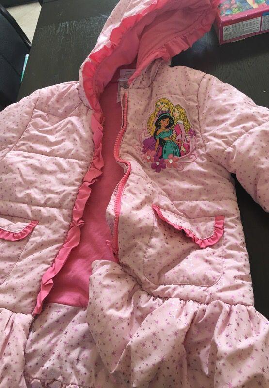 Disney store princess winter coat- size 5/6