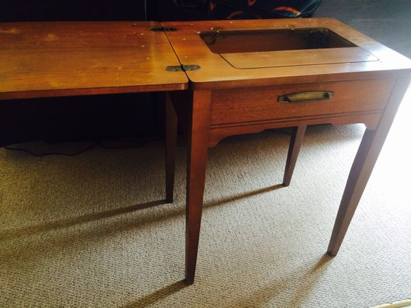 $5SOLD - Antique Sewing Machine Table For Sale In Oswego, IL - OfferUp