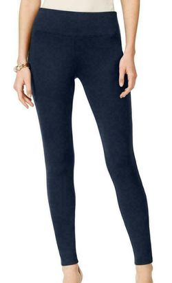 INC Women's Pants Blue Size 6X29 Curvy Pull-On Skinny Leg Stretch Thumbnail