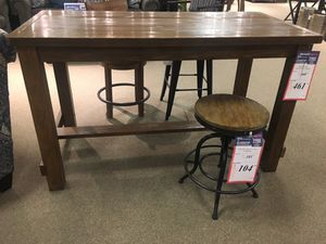 Wood Rectangular Counter Table With 4 Stools By Ashley Home For Sale In Philadelphia PA
