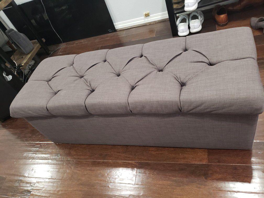 Shoe storage upholstered Bench