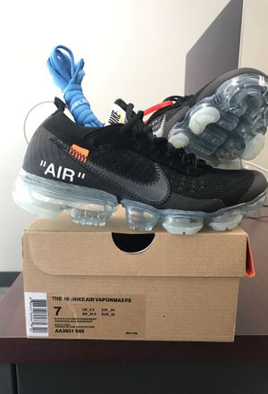 Off White Nike VaporMax size 7 for Sale in Washington, DC
