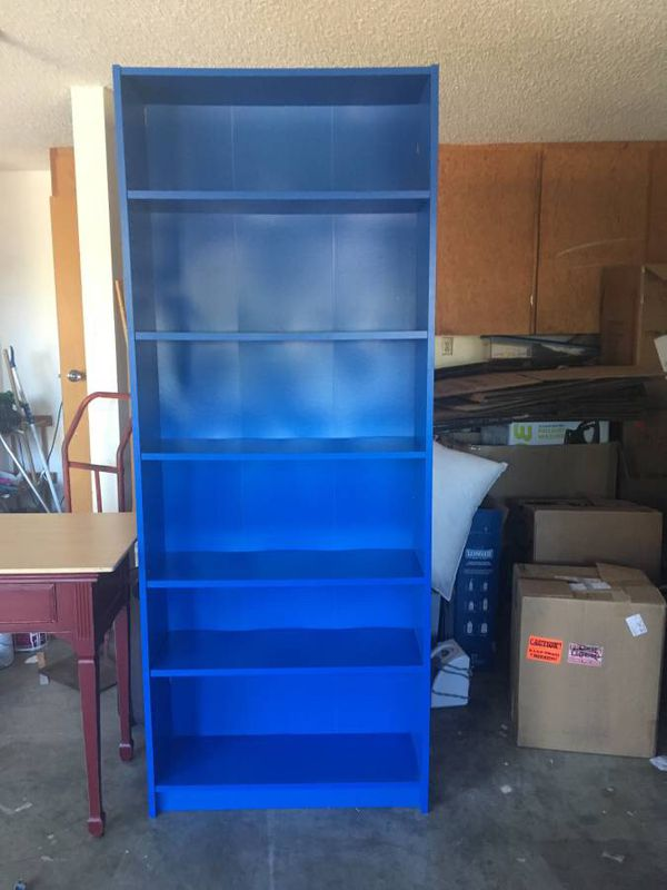 Ikea Billy Bookcase Bookshelves In Royal Blue