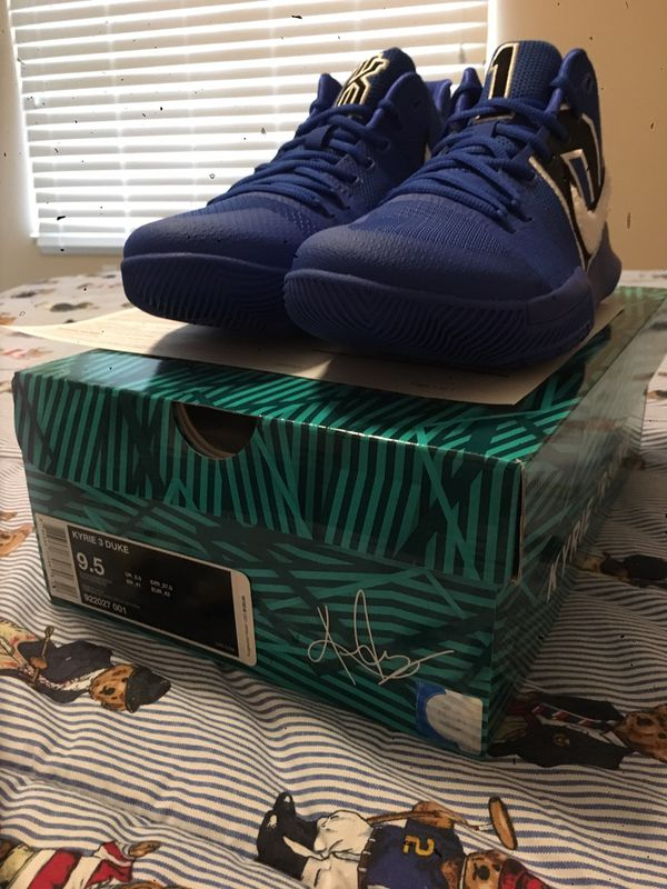 a86f739ea7f3 ... coupon code for nike kyrie 3 duke size 9.5 for sale in norfolk va  offerup 5afb1 ...
