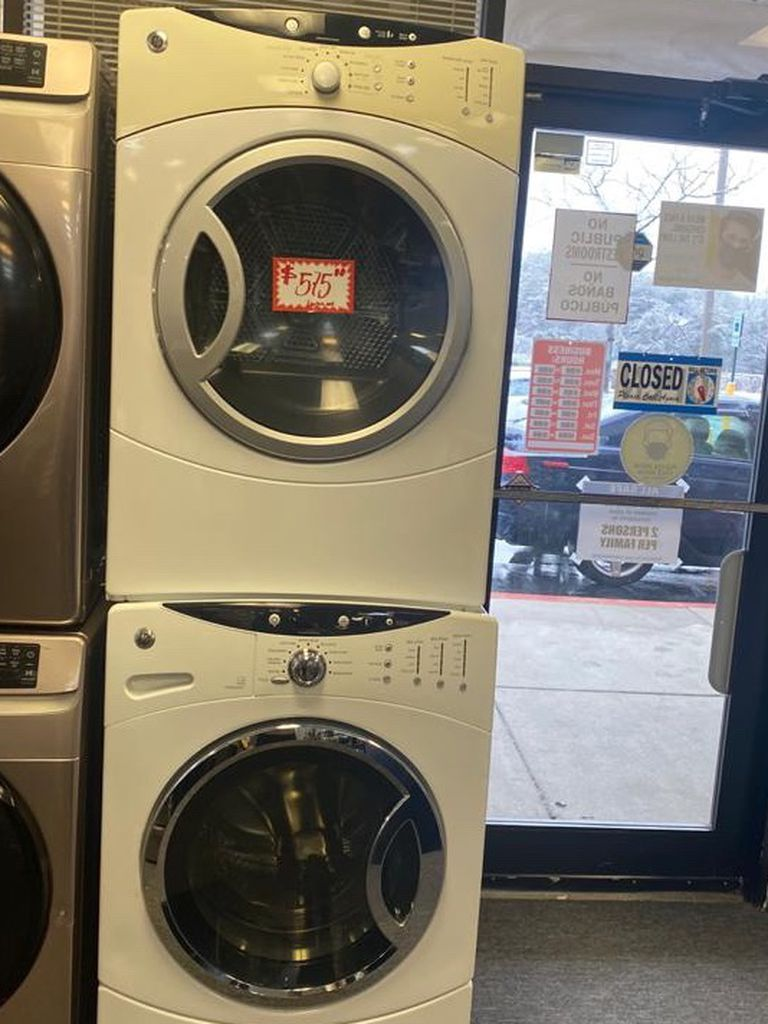 GE front load washer and dryer set in excellent condition with 4 months warranty