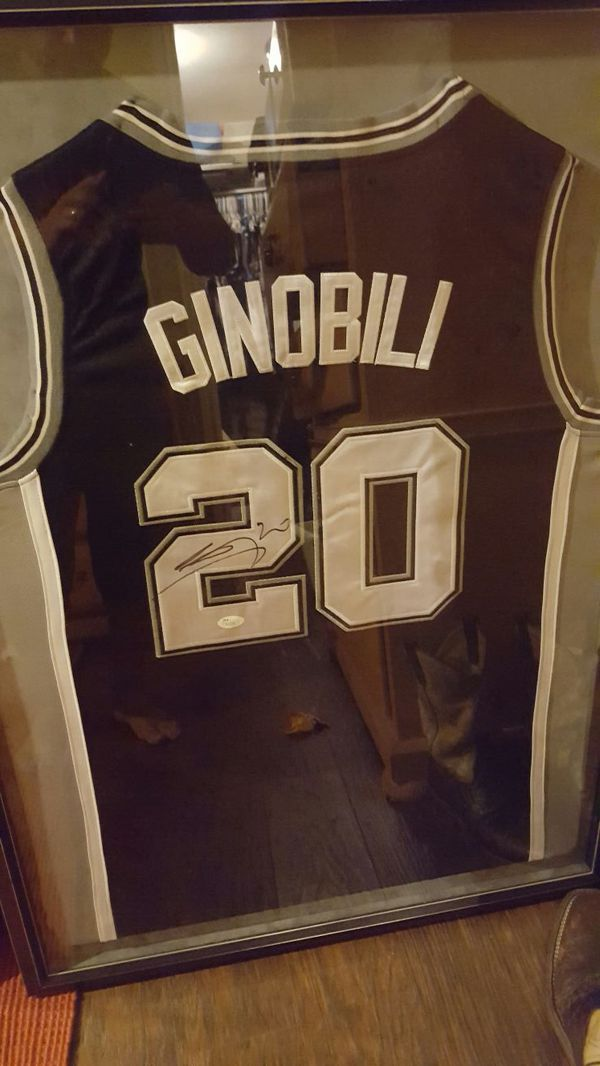 newest collection 6603a bdab4 Manu Ginobili autographed jersey Jsa certified for Sale in San Antonio, TX  - OfferUp