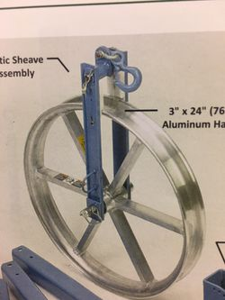 Fiber and coax pulling wheel like new Thumbnail
