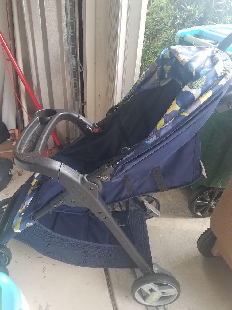Cosco stroller, navy blue