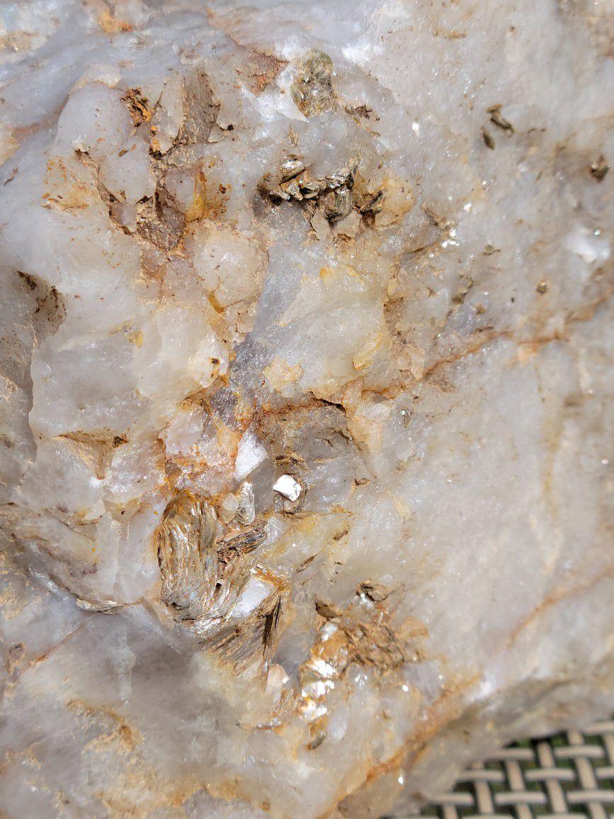 Rare Smoky Quartz With Hematite And Spessartine Garnet Inclusions Crystal Rock