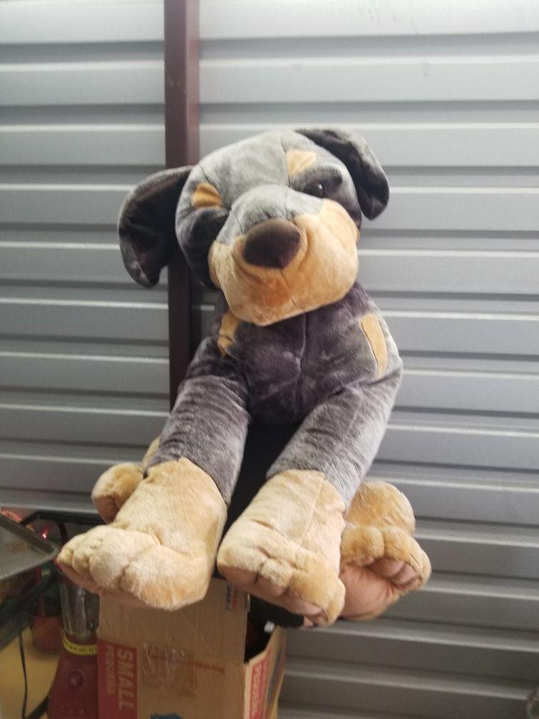 Extra large stuffed dog like new condition sanitized