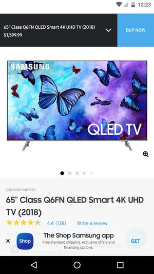 "Samsung 65"" Class Q6FN QLED Smart 4K UHD TV (2018) for Sale in Falls Church, VA"