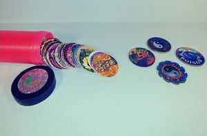 Vintage classic pogs games set with 300+ pogs and 4 slammers! for Sale in Kissimmee, FL