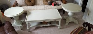 White wood coffee and end tables for Sale in Laurel, MD
