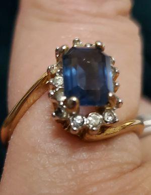 Photo Dark Blue Crystal Ring
