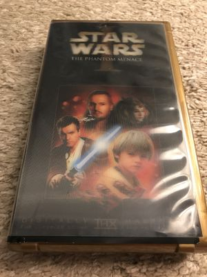 Star Wars phantom menace holographic vhs tape for Sale in Durham, NC