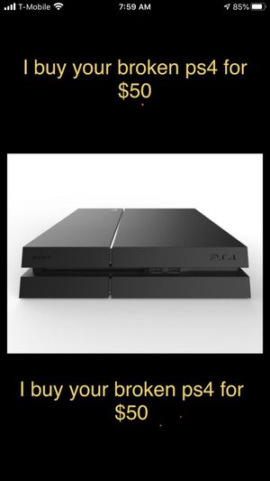 Photo I will buy your broken PS4 console for $50 must be able to drop off to me unless your close to the northeast Philadelphia