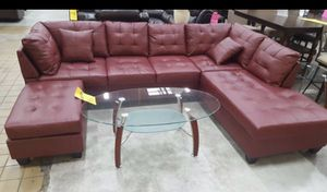 leather sectional sofa with ottoman for Sale in Silver Spring, MD