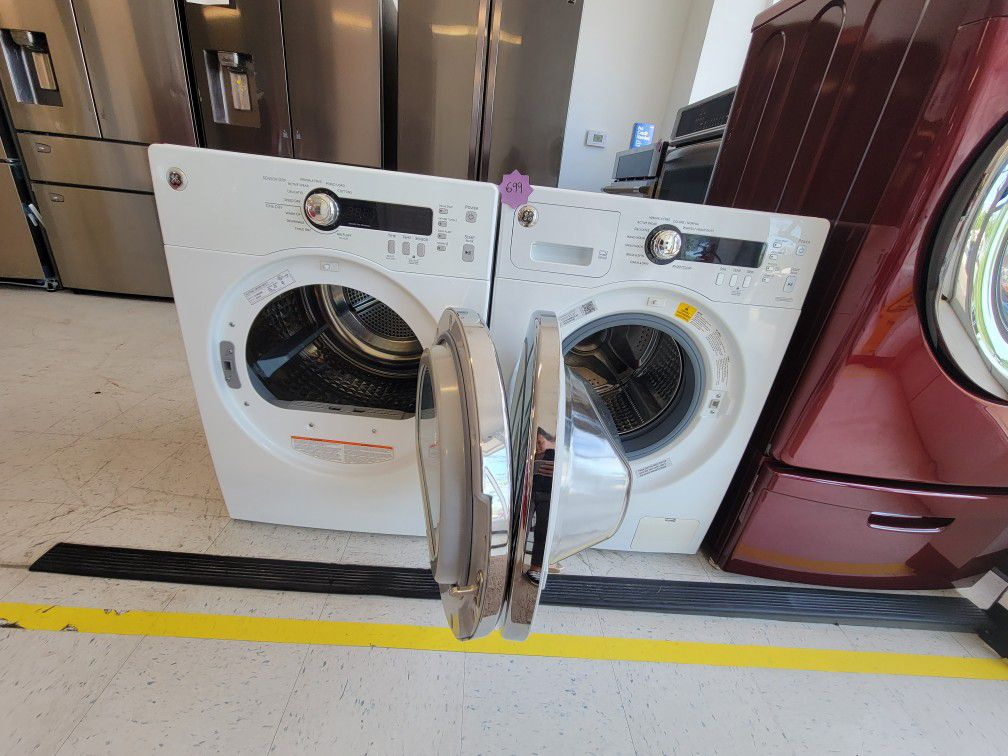 Ge 24inche Front Load Washer And Electric Dryer Set Used In Good  Condition With 90day's Warranty