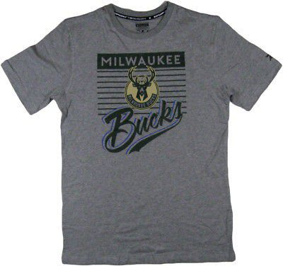 47c6e742950344 NBA mens Milwaukee bucks logo tee