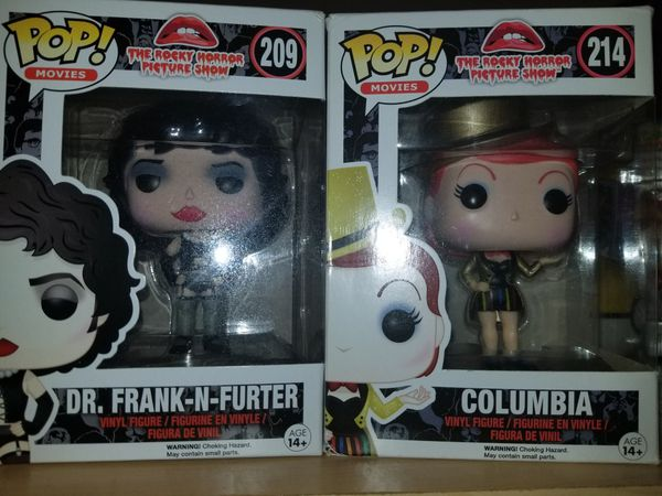 Funko Pops Dr Frank N Furter Columbia Rocky Horror Picture