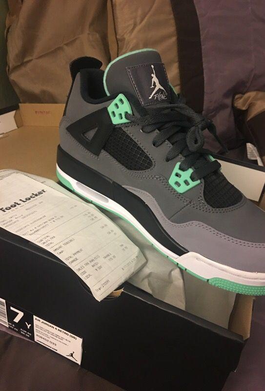 brand new 82427 05510 New w receipt Jordan green glow 4s 7y for Sale in San Francisco, CA -  OfferUp