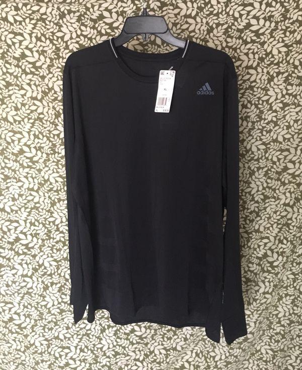 235f9b41c adidas Men s Supernova Running Jersey Black Sports Long Sleeve Shirt BQ7195  for Sale in Santa Clarita