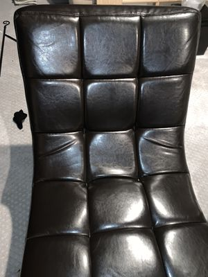 Beautiful chocolate brown leather lounge chair. Mint condition! for Sale in Fort Belvoir, VA