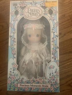 Vintage 1990's Precious Moments Bride Doll Thumbnail