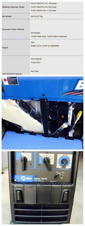 !!!!!!!!!Miller Bobcat 250 Welder!!!!!!!!!!! for Sale in Cary, NC