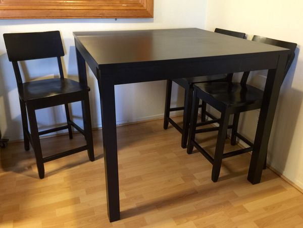 Ikea Bjursta Bar Table 4 Chairs 43 1 4x43 Square For In San Bruno Ca Offerup