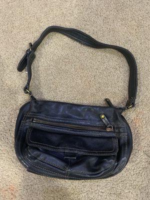 Photo Fossil black leather handbag