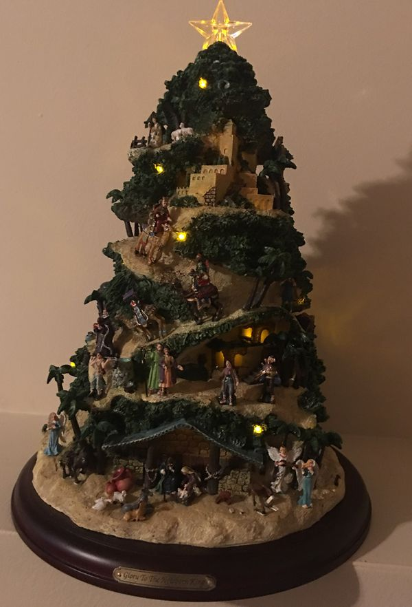 Thomas Kinkade Christmas Tree Glory To The Newborn King For Sale In Chicago Il Offerup