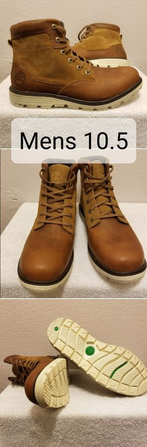 Photo Timberland mens size 10.5 walden park brown boots leather and suede waterproof