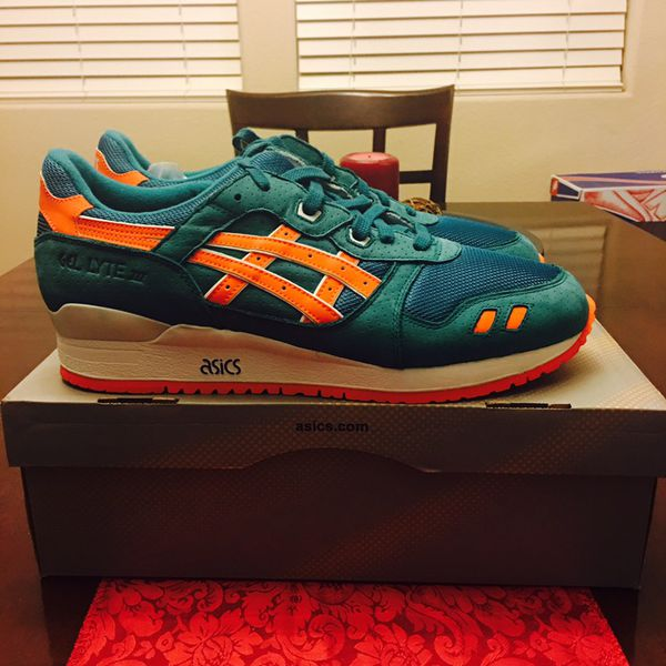 1523a61b9ef DS Asics Gel Lyte III Miami Dolphin for Sale in Henderson, NV - OfferUp
