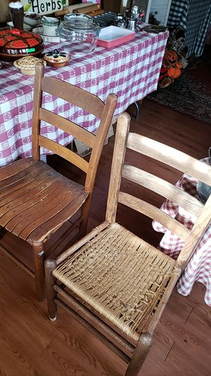 Vintage wood chairs for Sale in Farmville, VA