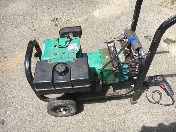Maxa Coleman powermate 4000 watt generator with a 8 0 horsepower tecumsem  cast iron sleeve motor  Equipped for auto start but needs a battery  No nee