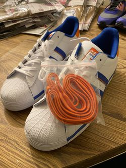 Adidas Superstar with Alternate shoelaces Size 12 Thumbnail