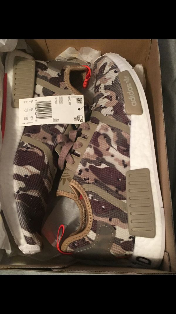 a5dfac3a587b8 NMD R1 Clear Brown Clear Brown Solar Red