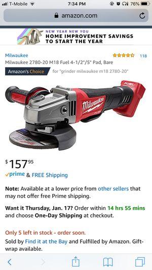 Grinder Milwaukee m18 for Sale in Hammond, IN
