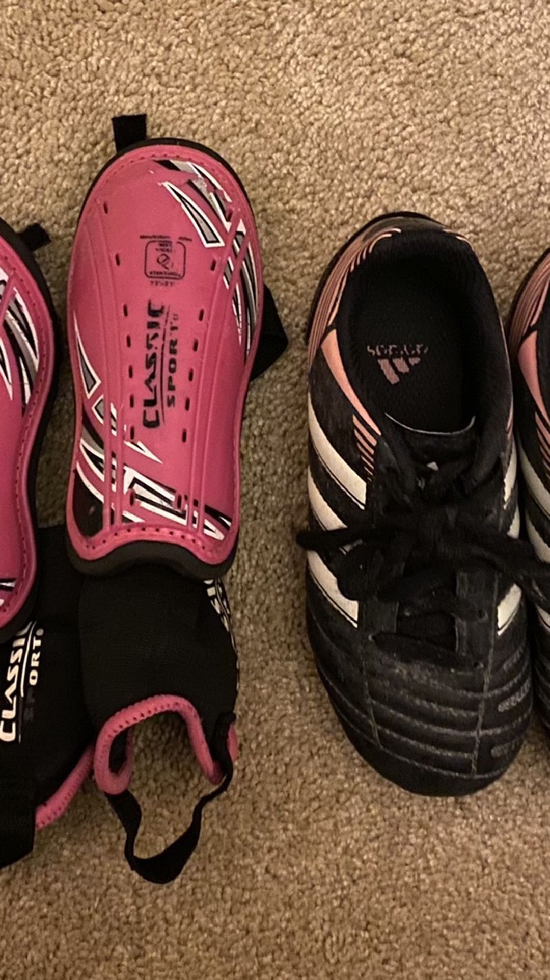 Soccer Shoes And Shin Guards Size 12