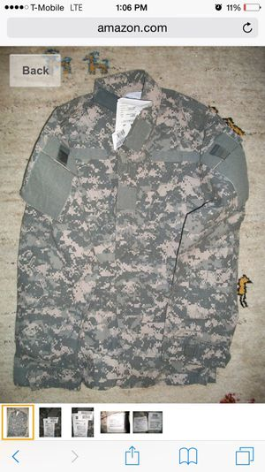 Army Combat Fire Resistance ACU Top for Sale in New York, NY