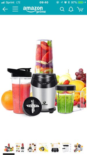 POSAME Personal Blender, 800W High-Speed Mixer Grinder, Vitamin and Nutrient Extraction for Shakes and Smoothies, Single Serve, 3 BPA Free Tritan Tra for Sale in Rockville, MD