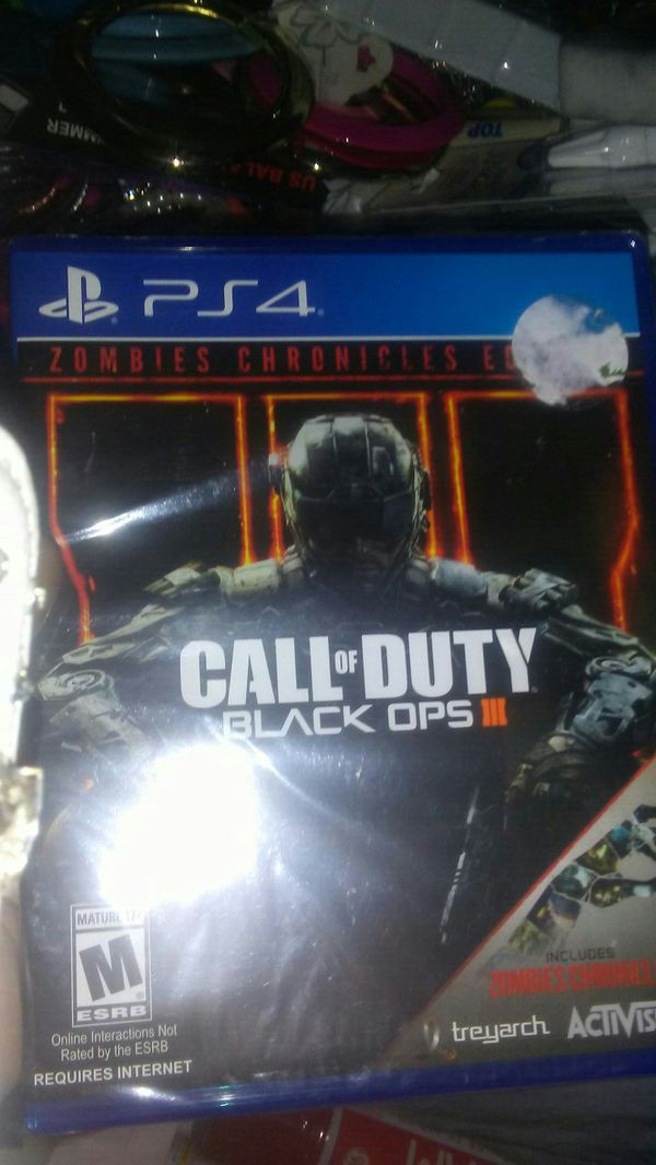 Ps4 Call of Duty black ops 3 zombie chronicles edition for Sale in  Portland, OR - OfferUp