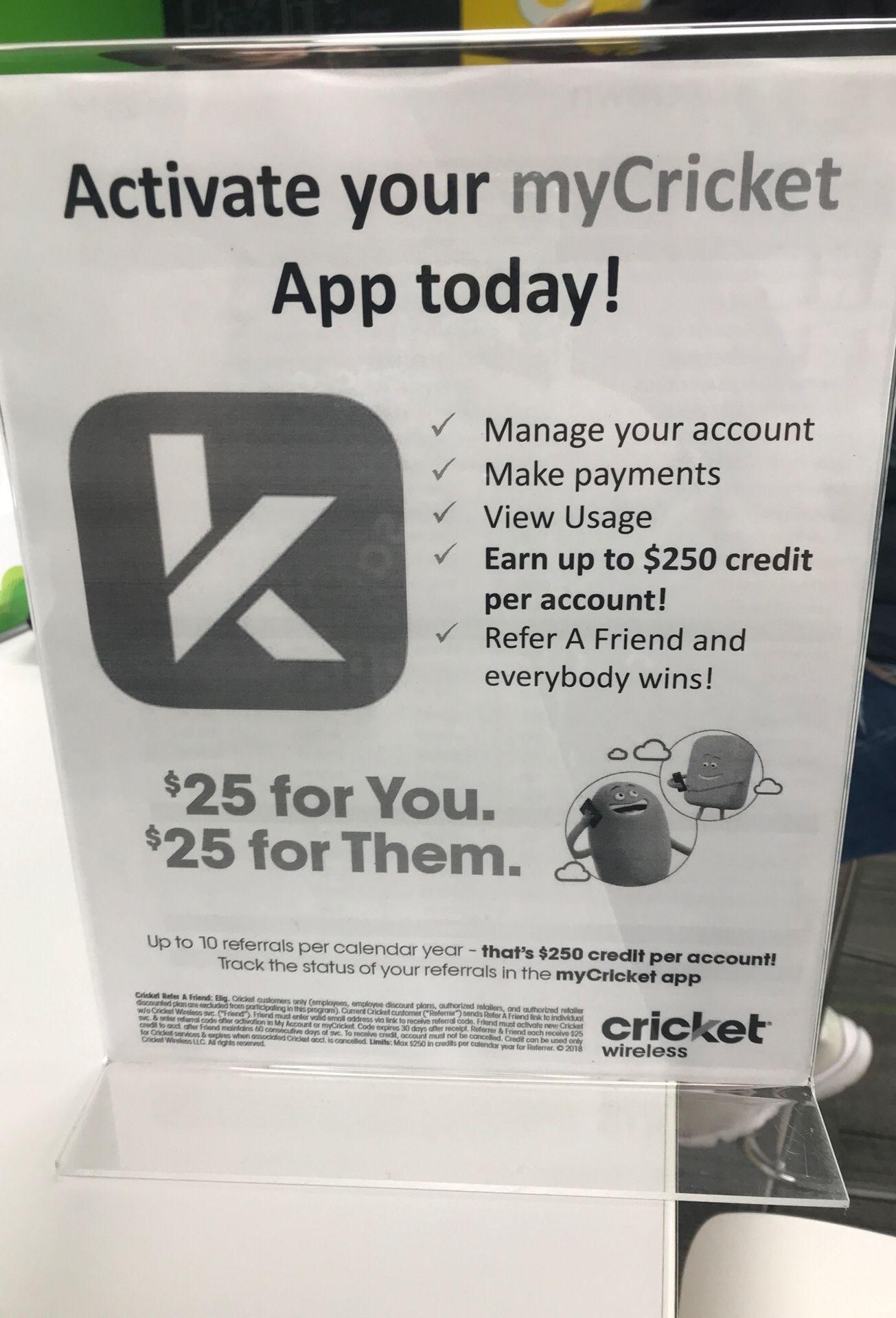 My cricket app